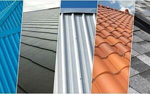 5種類の屋根材のイメージ