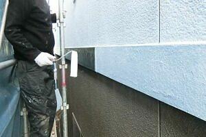 外壁塗装の作業風景