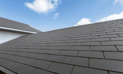 グレー系のスレート屋根